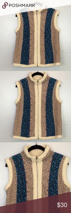 """Urban Outfitters Vest Kimchi & Blue for Urban Outfitters vest. Size medium. Zips all the way up Neck. Fitted style with light stretch. Multi color floral quilted patter. Shell: 100% cotton Lining: Polyester Acrylic Blend. Measurements approximately: underarm to underarm 18"""" length 23"""" Urban Outfitters Jackets & Coats"""