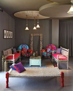 Modern Contemporary Living Room Design and Decor Ideas 09 Indian Living Rooms, My Living Room, Living Room Interior, Small Living, Ethnic Living Room, Home Decor Furniture, Home Decor Bedroom, Bedroom Ideas, Contemporary Home Decor