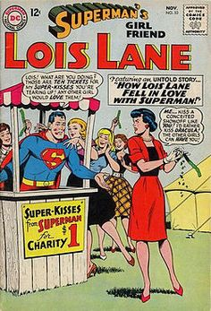 Superman and Lois, from the cover of Superman's Girl Friend, Lois Lane #53 (November 1964). Art by Kurt Schaffenberger.