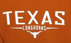 XL UT Texas Longhorns T Shirt University of Texas Burnt Orange White 100% Cotton #OVBOldVarsityBrand #UniversityofTexasLonghorns