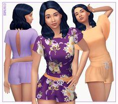 WMS - I made a cute little Summer romper for my sims =D...