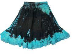 Bohemian Tie Dye Skirt, Black Blue Tie-dye Calf Length Gypsy Skirt for Womens Mogul Interior,http://www.amazon.com/dp/B00BIZBHVW/ref=cm_sw_r_pi_dp_jU9jrb0YVX7DWSNX