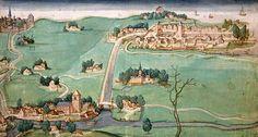 Overschie Kaart van de drie Schieën, 1512