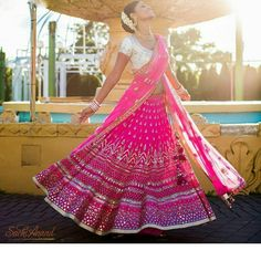 #ADLovetales #HappyBride Neepa Patel is perfection in Pink #AnitaDongre #Bridal #Couture #bride #brides #weddingday #weddingdress #wedding #weddings #sangeet #indianbride #asianbride #lehenga #skirt #india #indian #dance #rajasthan #handcrafted #handmade #gotapatti #embroidery #applique #luxury