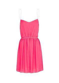 Spring Dress Specials Metallic straps sheer dress,