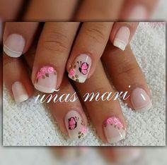 Cute Nail Art, Beautiful Nail Art, Cute Nails, Pretty Nails, French Manicure Nails, Manicure And Pedicure, Gel Nails, Best Acrylic Nails, Gel Nail Designs