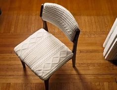 nice idea to use those old sweaters .. think cosby chairs ! LoL     http://www.readymade.com/magazine/article/knit_wit
