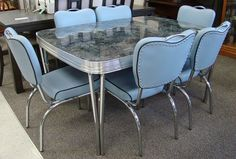 How about: Order a new dinette — made by a company using its original designs produced from 1949 to Yes: Acme Chrome Furniture Ltd. was established in March 1946 — and will celebrate 70 continuous years of business in two months! Retro Furniture, Design Furniture, Cool Furniture, Furniture Sets, Kitchen Furniture, Furniture Removal, Luxury Furniture, Chair Design, Design Design
