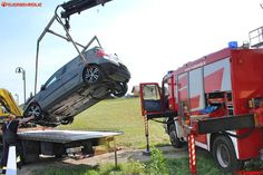 BFVDL: Spektakulärer Verkehrsunfall in Hörmsdorf