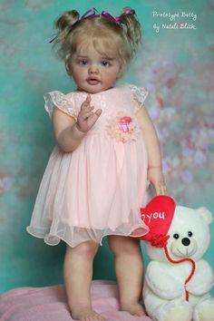 "Reborn Baby Doll. Betty by Natali Blick. 27"" Standing Toddler Lana Totten | eBay"