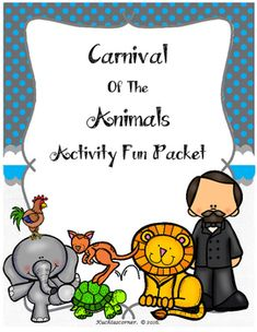 Are you looking for fun activities to reinforce your Carnival of the Animals unit? This fun activity packet is perfect for enhancing objectives that you have taught throughout your unit. This packet is a great way to assess your students understanding of what they have learned throughout the study of this beloved tale.
