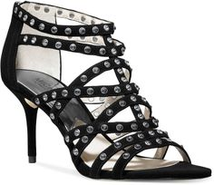 MICHAEL Michael Kors Maddie Jeweled T-Strap Evening Sandals on shopstyle.com