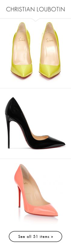 """""""CHRISTIAN LOUBOTIN"""" by jelenazugic ❤ liked on Polyvore featuring shoes, pumps, yellow pointed toe pumps, high heel shoes, yellow pumps, pointed toe pumps, christian louboutin pumps, heels, sapatos and christian louboutin"""