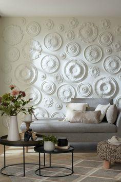 Living Room Designs India, Art Deco Living Room, Wall Texture Design, Wall Design, Home Spa Decor, Interior Walls, Interior Design, Room Wall Colors, Bedroom Decor