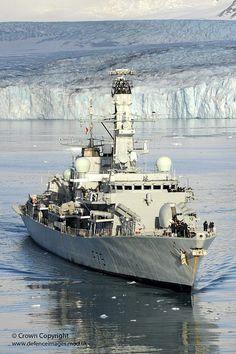 HMS Portland Sails Near Huge Glacier in South Georgia by Defence Images, via Flickr