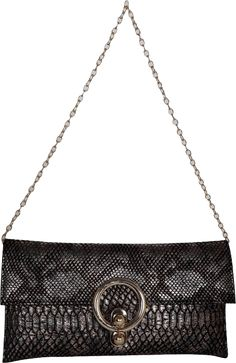 This Clutch is made out of synthetic crocodile material . It has one main compartment and looks stylish with any party wear.