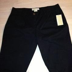 Michael Kors Black Casual City Scene Basics Pants Size 8 New! #MichaelKors #CasualPants