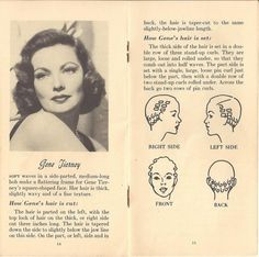 pin curl pattern - gene tierney
