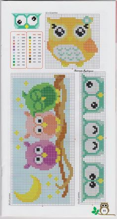 Brilliant Cross Stitch Embroidery Tips Ideas. Mesmerizing Cross Stitch Embroidery Tips Ideas. Cross Stitch Owl, Cross Stitch Bookmarks, Cross Stitch Animals, Cross Stitch Charts, Cross Stitch Designs, Cross Stitching, Cross Stitch Embroidery, Cross Stitch Patterns, Crochet Cross
