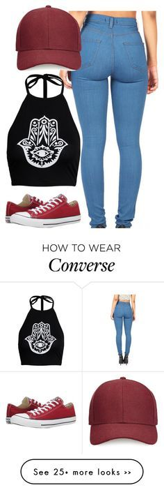 """Untitled #586"" by leahmonee on Polyvore featuring Boohoo, Whistles and Converse"
