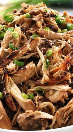 Slow Cooker Crispy Chinese Shredded Chicken