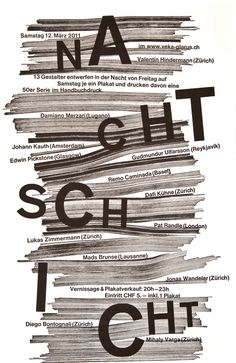 Dafi Kühne, Letterpress poster for poster-design workshop (designed with Jonas Wandeler), 2011