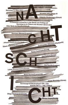 Dafi Kühne, Letterpress poster for poster-design workshop (designed with Jonas Wandeler), 2011