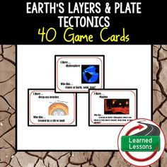 Earth Science Layers & Plate Tectonics 40 I Have, Who Has Game CardsThis product can also be purchased in several BUNDLES to save $$. VISIT MY STORE AND FOLLOW TO GET UPDATES WHEN NEW RESOURCES ARE ADDED  INCLUDES THE FOLLOWING These student matching vocabulary cards are a great way to engage all students in groups for a fun whole class or group game. -Density-Crust-Mantle-Lithosphere-Asthenosphere-Core-Outer Core-Inner Core-Sphere-Atmosphere-Hydrosphere-Geosphere/Lithosphere-Biosphere-Th...