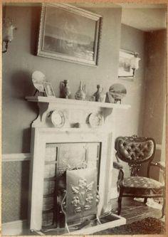 painting chair fireplace album lion hook edwardian