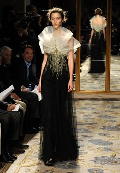 Marchesa 2012. Fan neckline. For Kele.