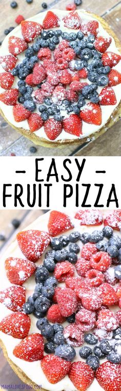 Easy Fruit Pizza Recipe with Cream Cheese Icing Chocolate Marshmallow Cookies, Chocolate Chip Shortbread Cookies, Toffee Cookies, Yummy Cookies, Fruit Recipes, Cookie Recipes, Dessert Recipes, Pizza Recipes, Superfood Recipes