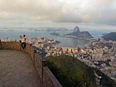 Mirante Dona Marta - Selfie - Enseada de Botafogo - Pão de Açúcar - Baía de Guanabara - Rio de Janeiro - Brasil - Brazil