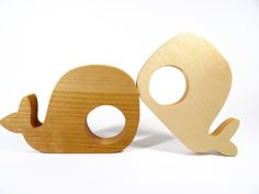 Wooden Teether  Whale  //  Wooden Teething Toys by DesChosesEnBois