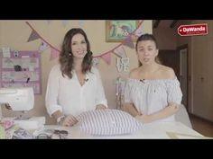 Cómo hacer una funda de cojín reciclando una camisa con Lucía de Menudo Numerito | DaWanda - YouTube