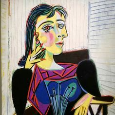 Picasso's Portrait of Dora Maar. His companion and muse Picasso bought her a home in Menerbes, France. It is now a writer and artist retreat. Congratulations to Seamus Scanlon on his fellowship at Dora Maar House. Cubist Portraits, Picasso Portraits, Art Picasso, Picasso Paintings, Georges Braque, Dora Maar Picasso, Giacometti, Guernica, Mondrian