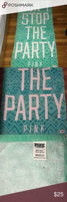 Final sale! NWOT VS PINK beach towel NWOT pink beach towel size 28x 58 inch PINK Victoria's Secret Other