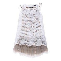 Dress Romantic Girl (rosa-marrone) - Girl - Spring/Summer 2013 - - Girl fashion clothing Girl fashion baby - Monnalisa Dreams