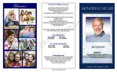 38 Best Funeral Program Samples Images