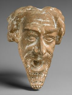 Spout in the form of a man's head, from the Parthian period circa A.D. 1st-2nd century...part of Ancient Near Eastern Art