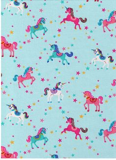Colorful pastel unicorn wall paper