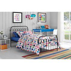 9 by Novogratz Bright Pop Twin Metal Bed, Multiple Colors