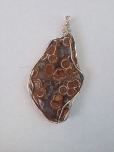 Monte lake eye agate hand wrapped my laurie