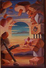 Plainte de Nouville 1985, Nouméa Huile sur toile, © Marcel Pétron #gouttedeau #Nouville