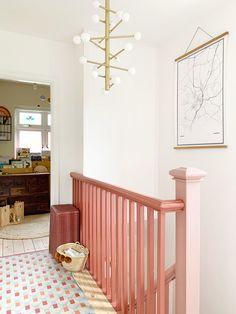 Wood Floor Repair, Valspar Colors, Matching Paint Colors, Under Stairs Cupboard, Bannister, Dim Lighting, Painted Floors, Hallway Decorating
