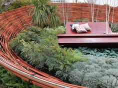 Amazing Hardscapes Get ideas for your hardscape from these extraordinary outdoor living spaces by Jamie Durie, Scott Cohen and other designers. Backyard Canopy, Garden Canopy, Diy Canopy, Canopy Outdoor, Outdoor Rooms, Outdoor Walls, Outdoor Gardens, Outdoor Living, Tent Canopy