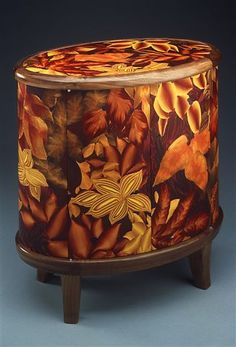 J.M. Syron and Bonnie Bishoff piece. They have collaborated on their wood and polymer clay pieces since 1987. Gorgeous.