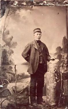 Railroad Trolley Train conductor.. ca. 1860/65