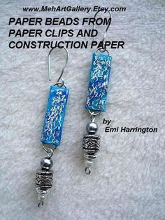 Make some colorful paper beads using paper clips and construction paper!