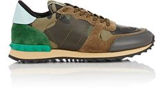 VALENTINO Camouflage Rockrunner Sneakers. #valentino #shoes #all