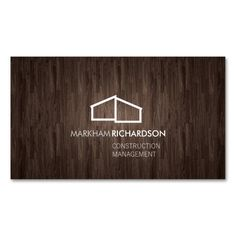 Modern Home Logo on Wood for Construction, Realtor Double-Sided Standard Business Cards (Pack Of 100). Make your own business card with this great design. All you need is to add your info to this template. Click the image to try it out!